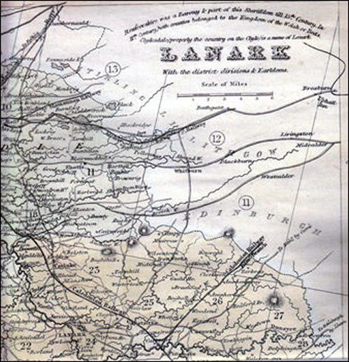 Map of Lanark