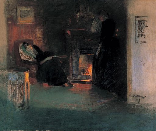 Firelight Reflections by James Guthrie, 1890