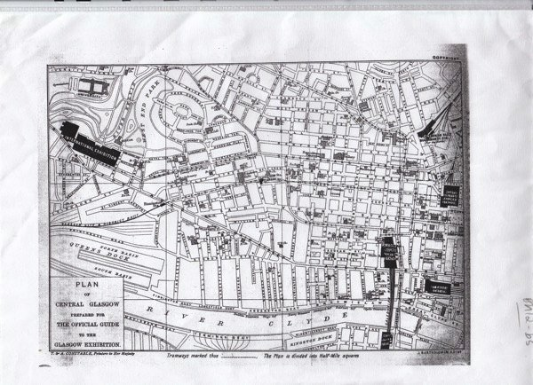 Map of Glasgow 1888