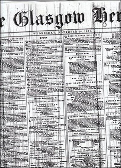 Glasgow Herald from November 1861