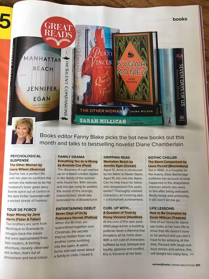Women and Home Magazine reviews 'Sugar Money' - Jane Harris